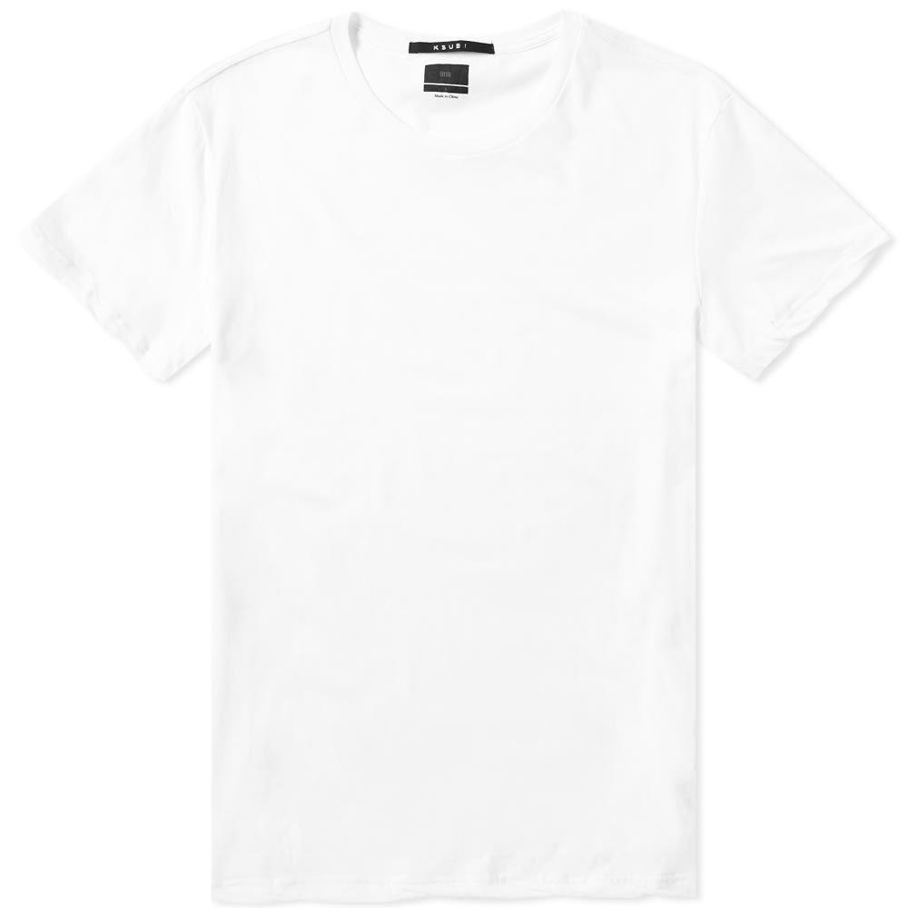 スビ Ksubi メンズ Tシャツ トップス【seeing lines tee】White