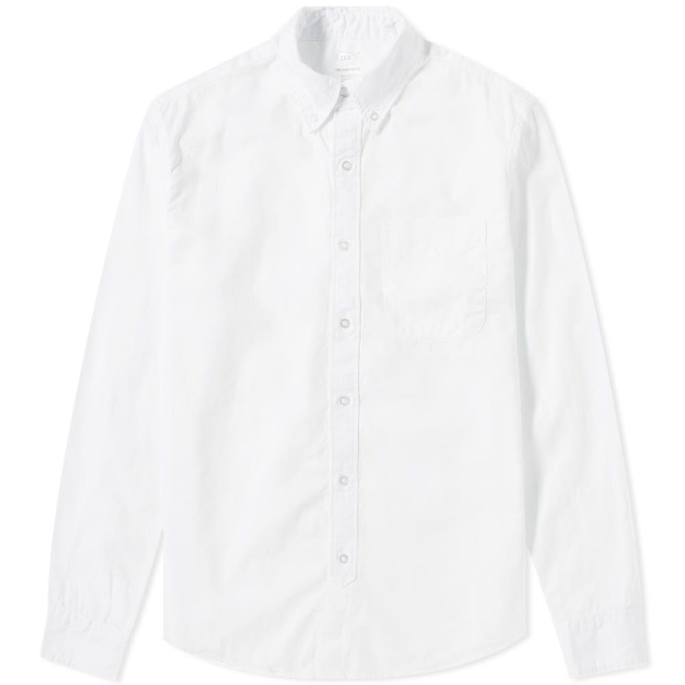 セーブカーキユナイテッド Save Khaki メンズ シャツ トップス【garment dyed button down oxford shirt】White