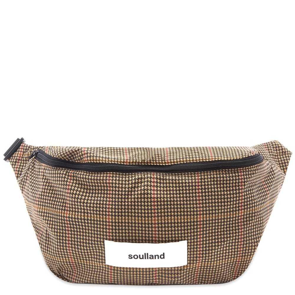 ソウルランド Soulland メンズ バッグ ボディバッグ・ウエストポーチ【Houndstooth Waist Bag】Brown