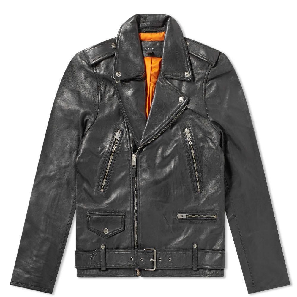 スビ Ksubi メンズ レザージャケット ライダース アウター【loathing leather biker jacket】Black