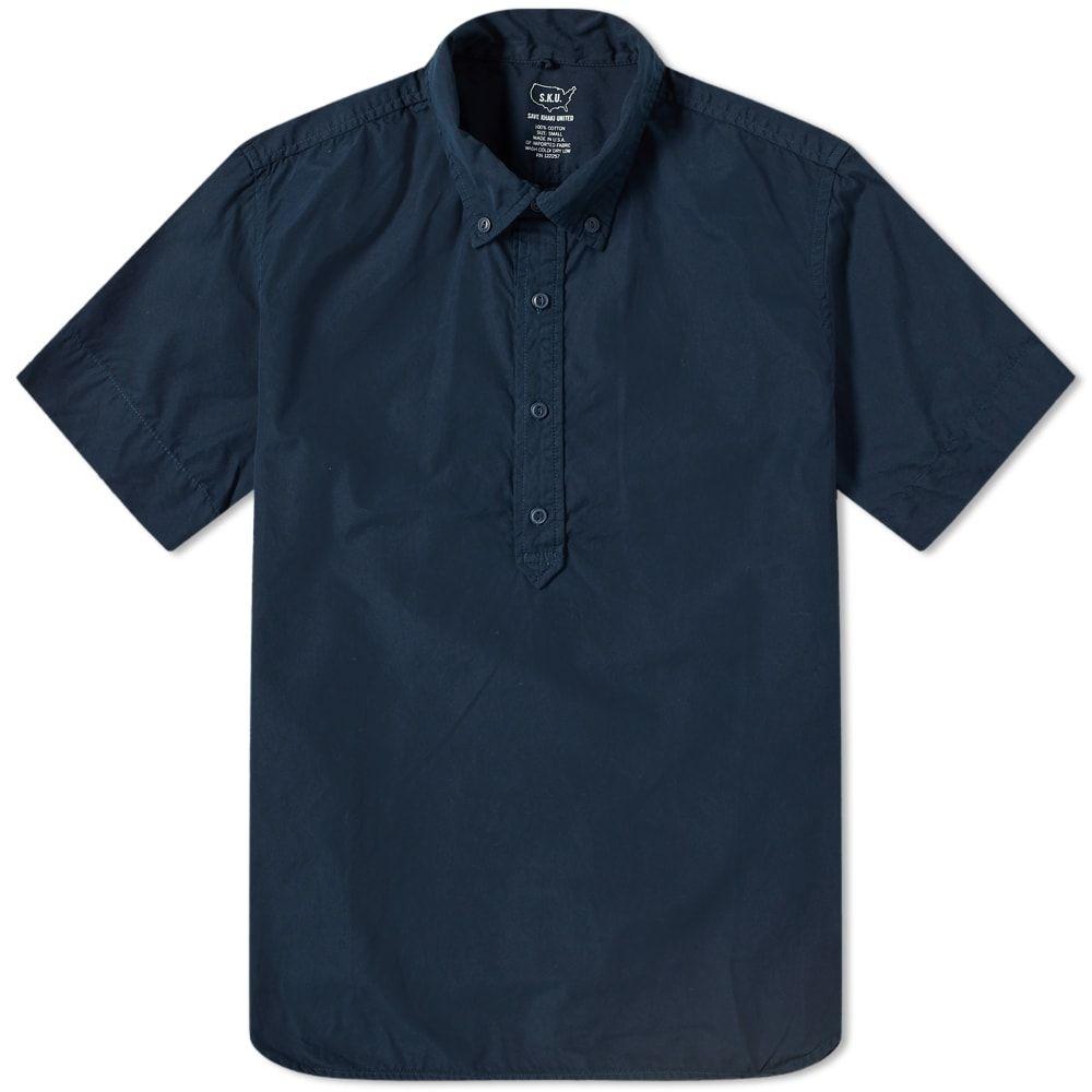 セーブカーキユナイテッド Save Khaki メンズ 半袖シャツ トップス【short sleeve popover shirt】Navy