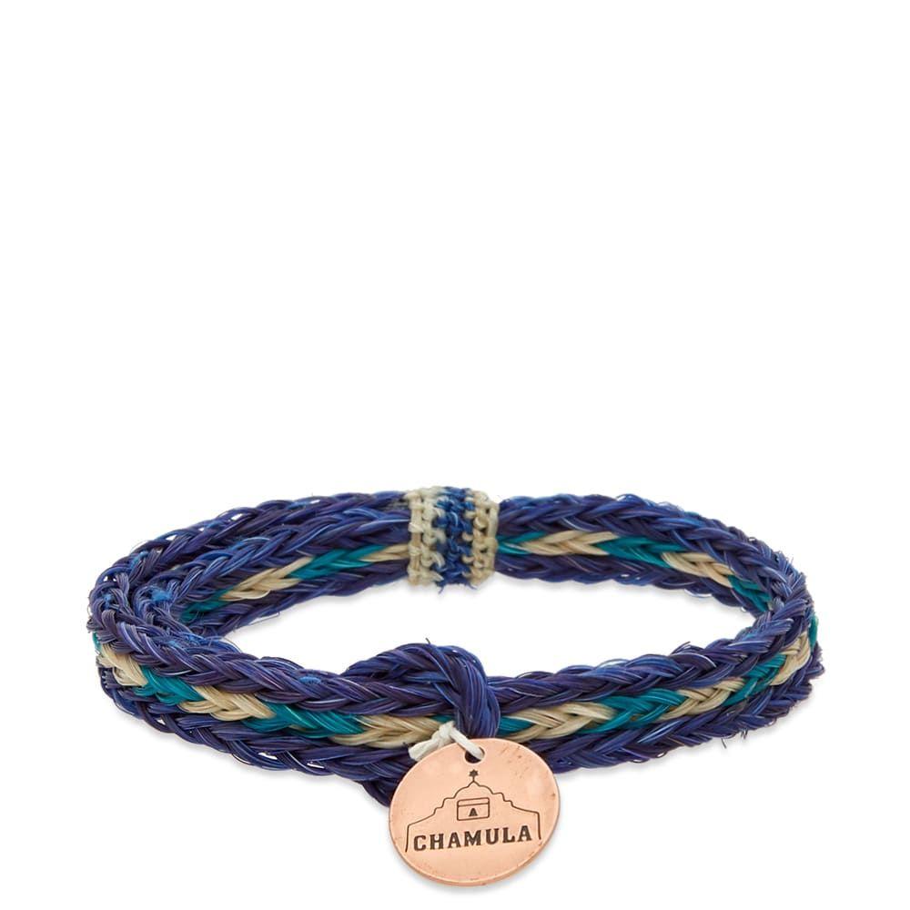 チャムラ Chamula メンズ ジュエリー・アクセサリー ブレスレット【Braided Horsehair Bracelet】Blue