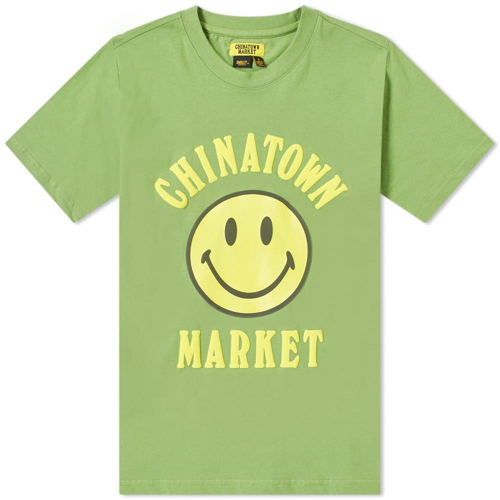 チャイナタウンマケット Chinatown Market メンズ Tシャツ トップス【smiley tee】Olive