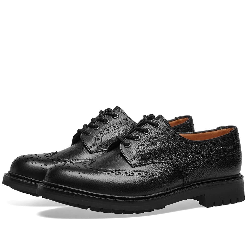 チャーチ Churchs メンズ シューズ・靴 革靴・ビジネスシューズ【Church's McPherson Commando Sole Brogue】Black Grain