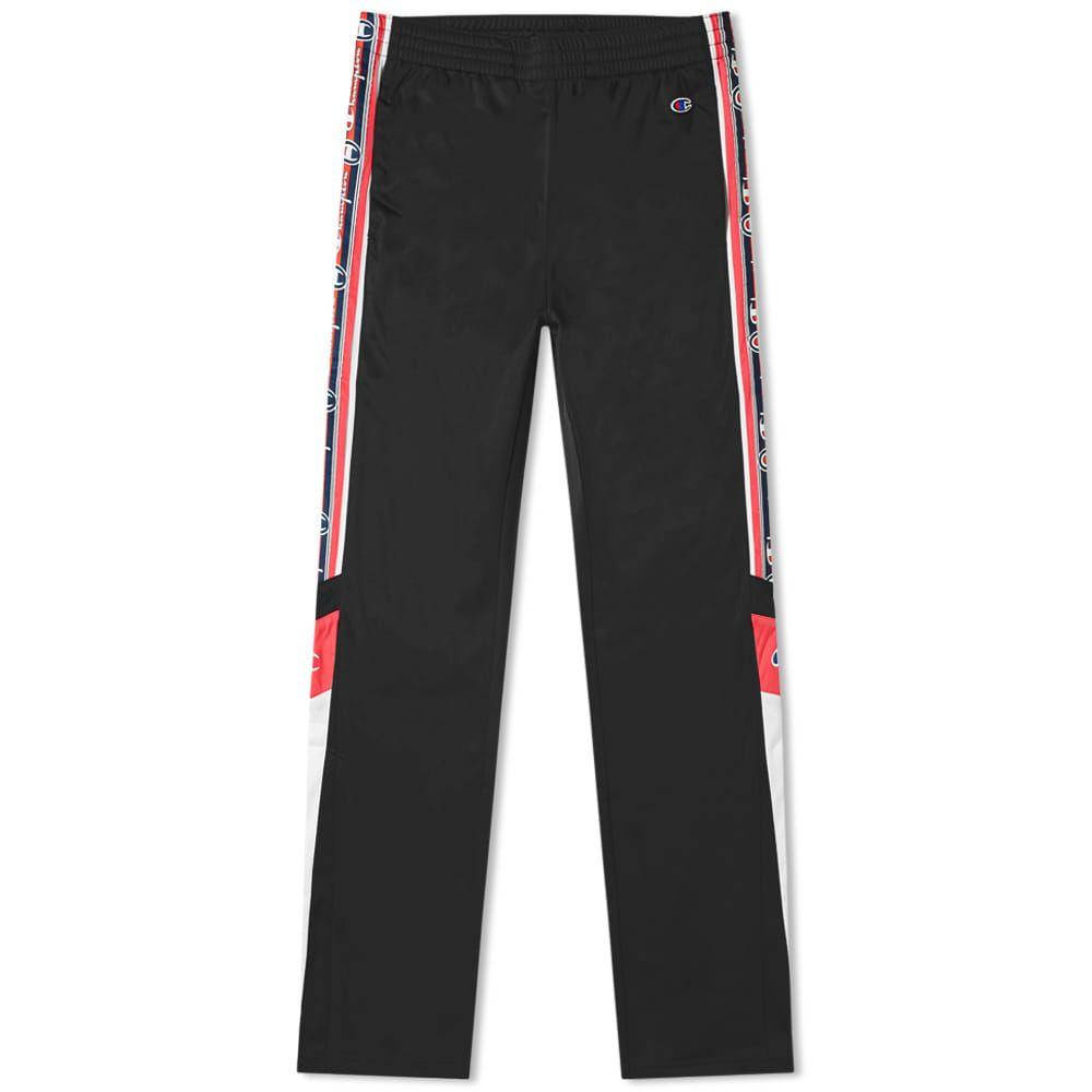 チャンピオン Champion Reverse Weave メンズ スウェット・ジャージ ボトムス・パンツ【taped track pant】Black/White/Pink