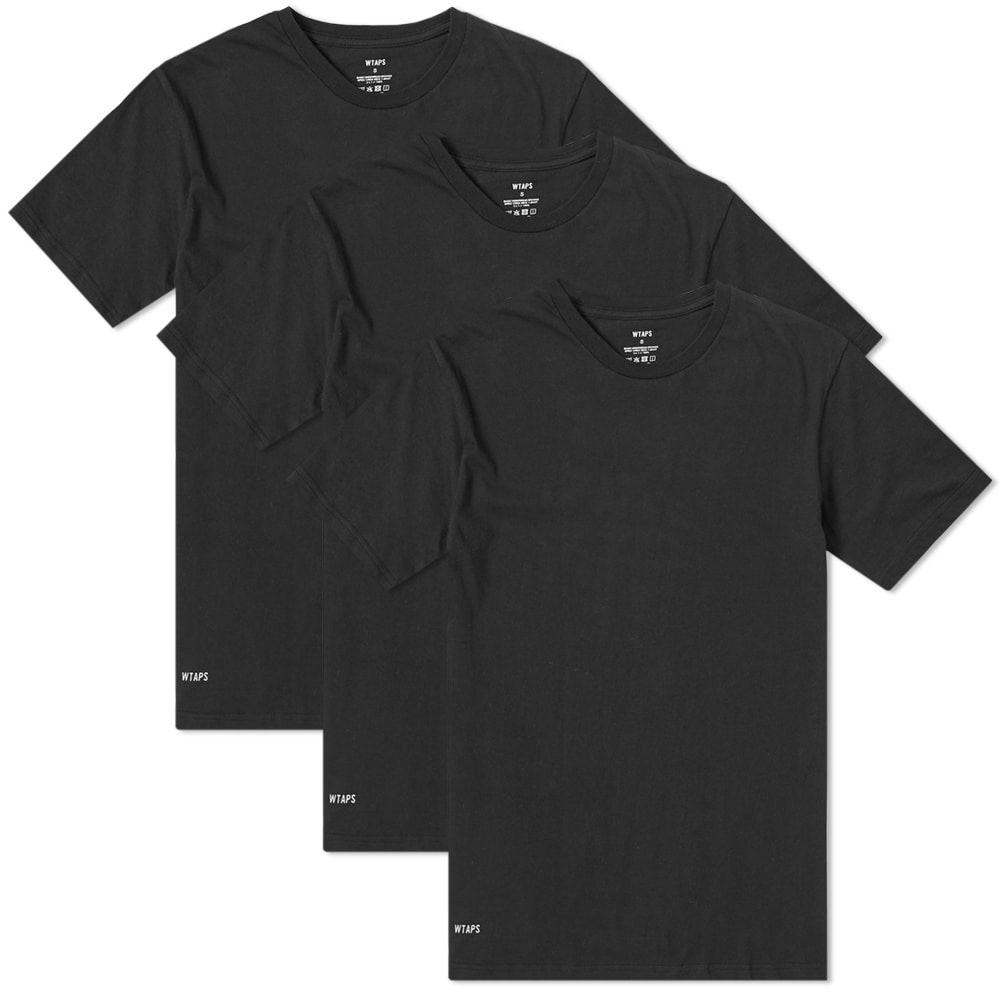 ダブルタップス WTAPS メンズ Tシャツ 3点セット トップス【skivvies crew tee - 3 pack】Black