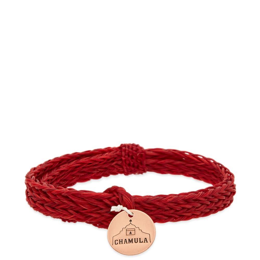 チャムラ Chamula メンズ ジュエリー・アクセサリー ブレスレット【Braided Horsehair Bracelet】Red