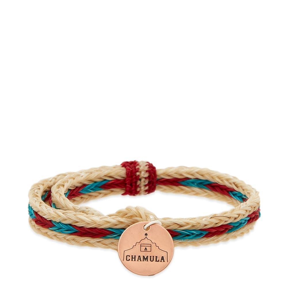チャムラ Chamula メンズ ジュエリー・アクセサリー ブレスレット【Braided Horsehair Bracelet】White/Red/Turquoise