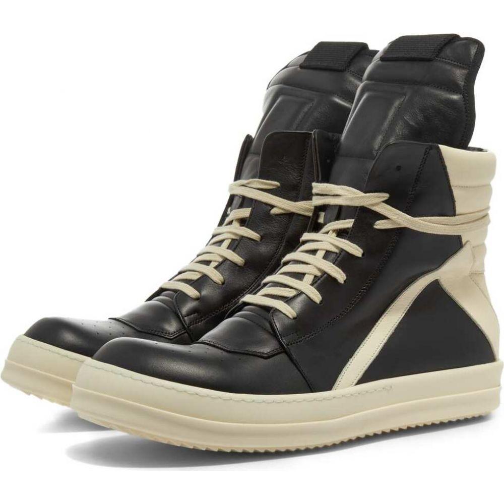 リック オウエンス Rick Owens メンズ スニーカー シューズ・靴【Geobasket Sneaker】Black/Milk