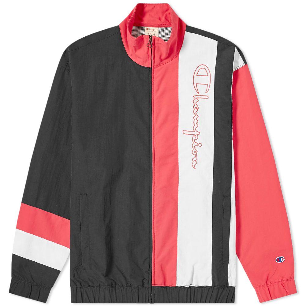チャンピオン Champion Reverse Weave メンズ ジャージ アウター【colour block track top】Black/Pink/White
