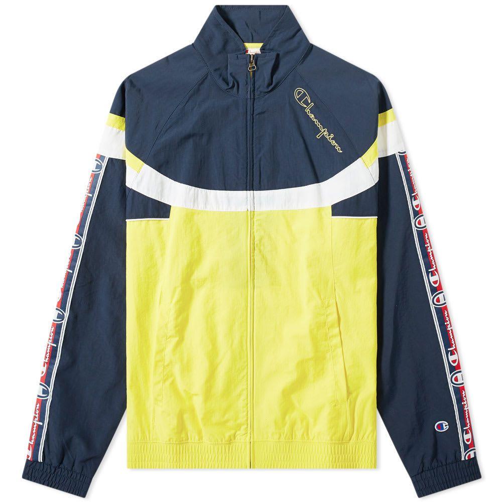 チャンピオン Champion Reverse Weave メンズ ジャージ アウター【taped colour block track top】Yellow/Navy/White