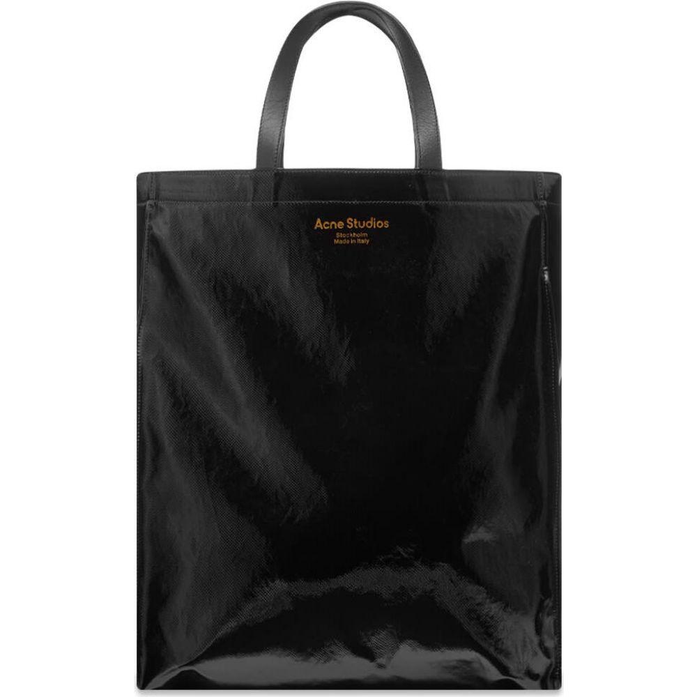 アクネ ストゥディオズ レディース バッグ トートバッグ Black Shopper Studios サイズ交換無料 お買い得 Logo Acne 買物
