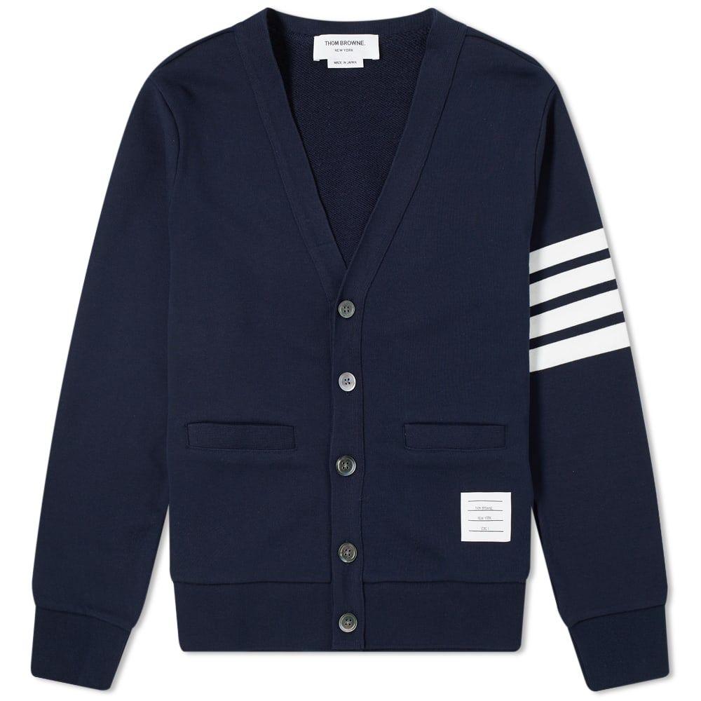 トム ブラウン Thom Browne メンズ カーディガン トップス【jersey 4 bar cardigan】Navy