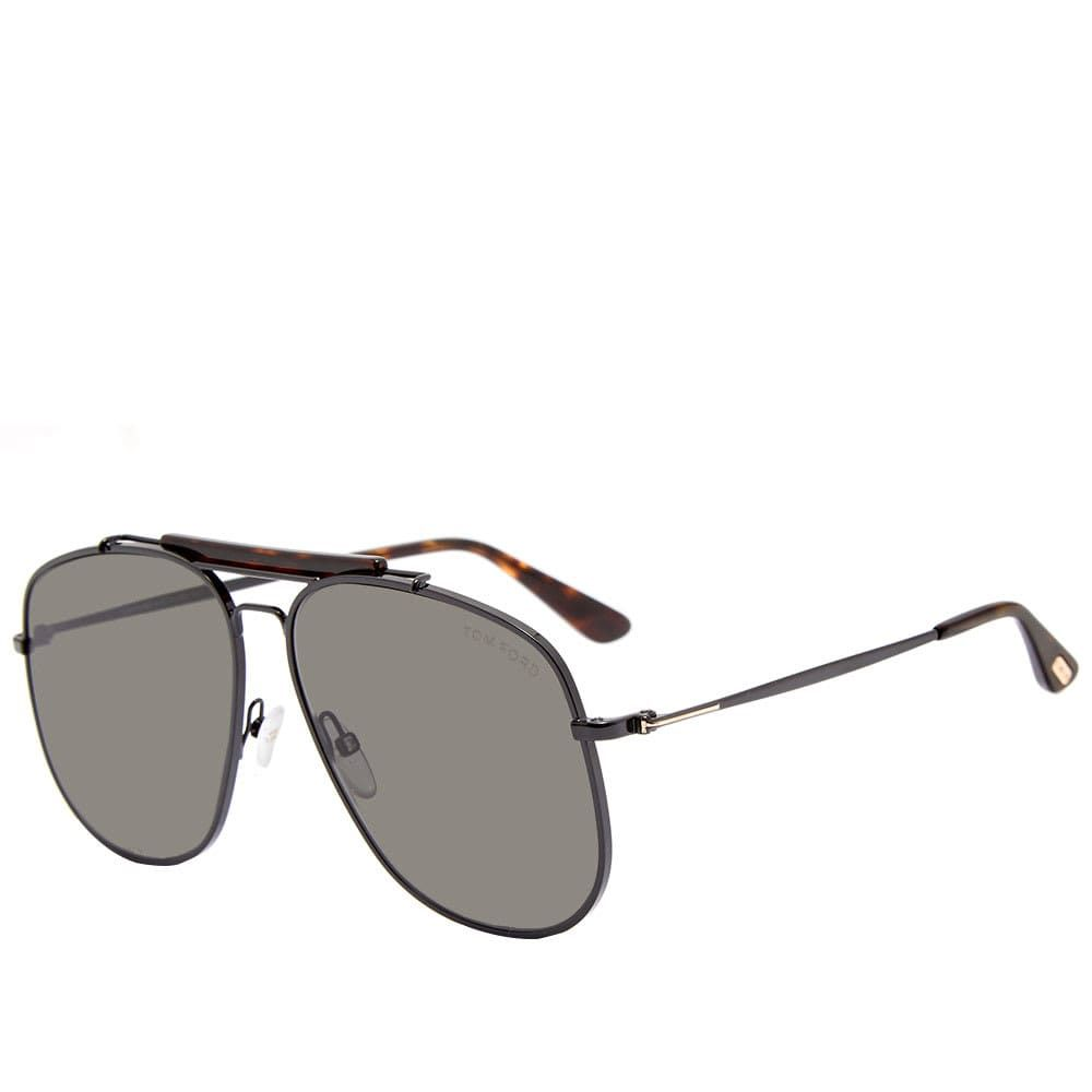 トム フォード Tom Ford Eyewear メンズ メガネ・サングラス 【tom ford ft0557 connor-02 sunglasses】Shiny Black/Smoke