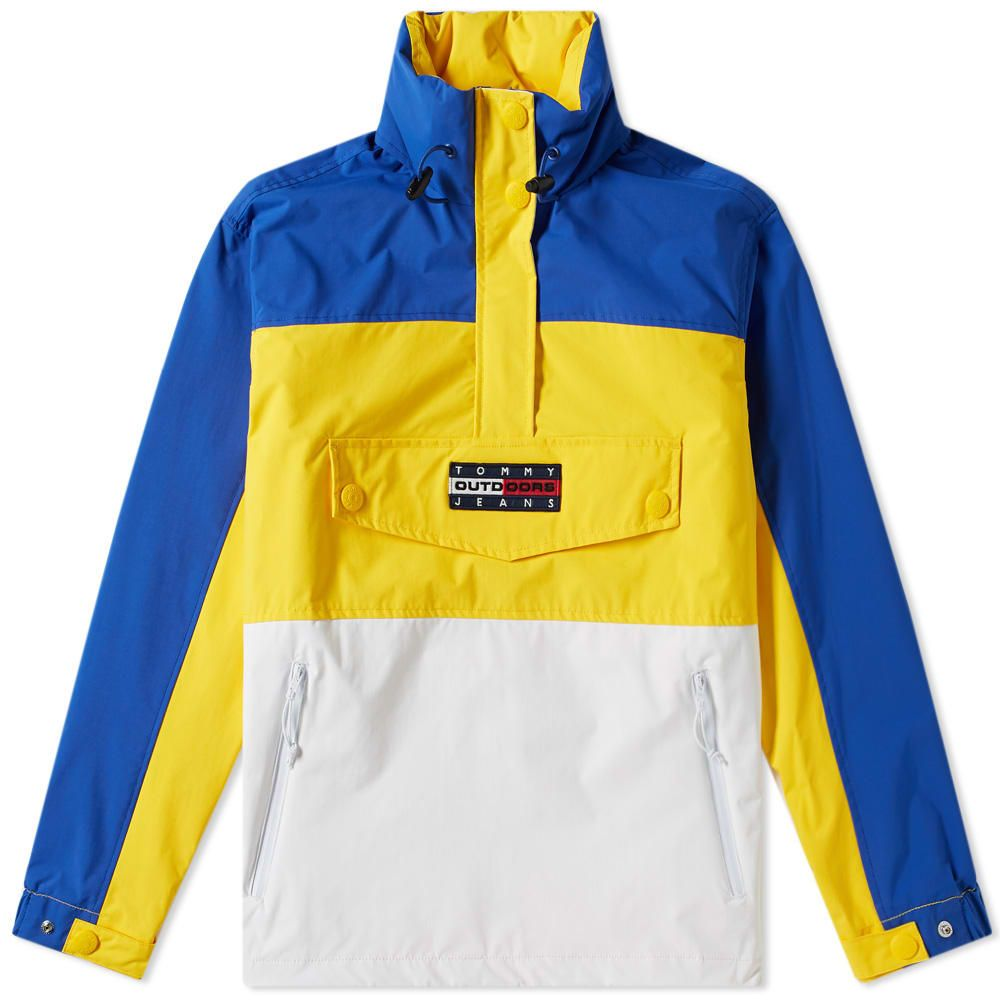 トミー ジーンズ Tommy Jeans レディース ジャケット アウター【6.0 colour block popover jacket w6】Lemon Chrome/Multi