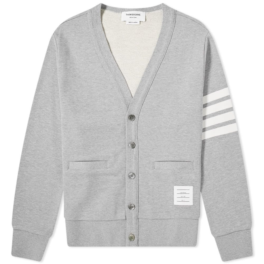 トム ブラウン Thom Browne メンズ カーディガン トップス【jersey 4 bar cardigan】Light Grey
