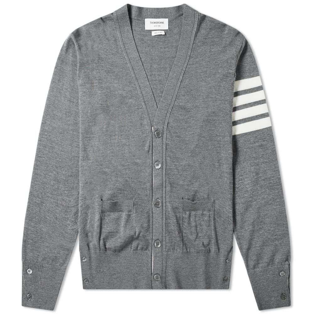 トム ブラウン Thom Browne メンズ カーディガン トップス【classic merino cardigan】Grey