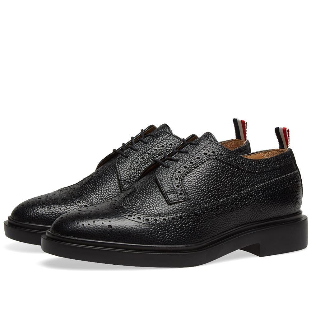 トム ブラウン Thom Browne メンズ シューズ・靴 革靴・ビジネスシューズ【Classic Longwing Brogue】Black Pebble Grain