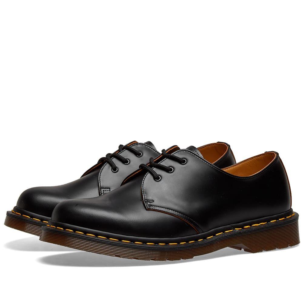 ドクターマーチン Dr Martens メンズ シューズ・靴 【dr. martens 1461 vintage shoe - made in england】Black Quilon