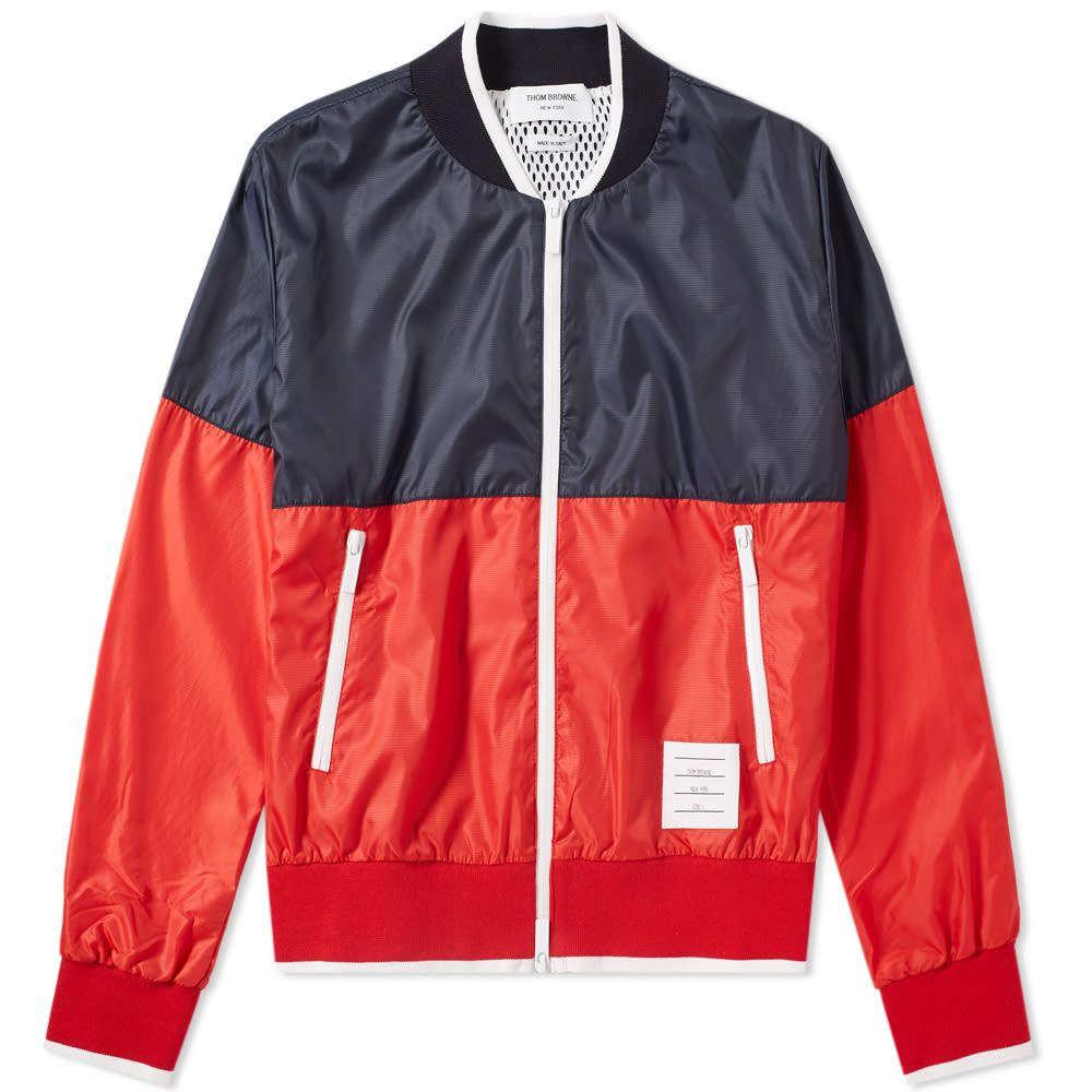 トム ブラウン Thom Browne メンズ ブルゾン ミリタリージャケット アウター【bi-colour bomber jacket】Navy/White/Red
