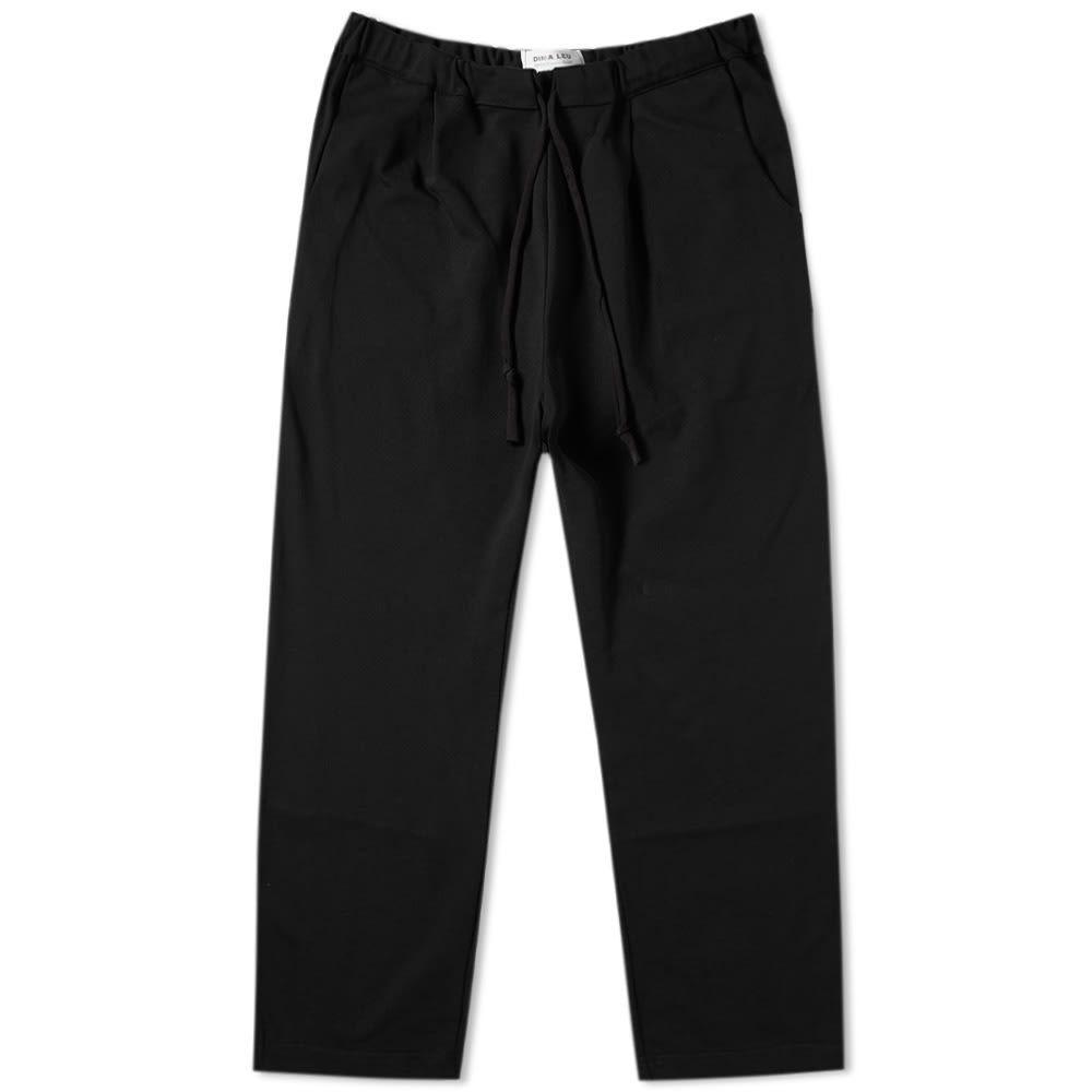 ディマ レウ DIMA LEU メンズ ボトムス・パンツ 【jersey stripe trouser】Black/Rouge Red