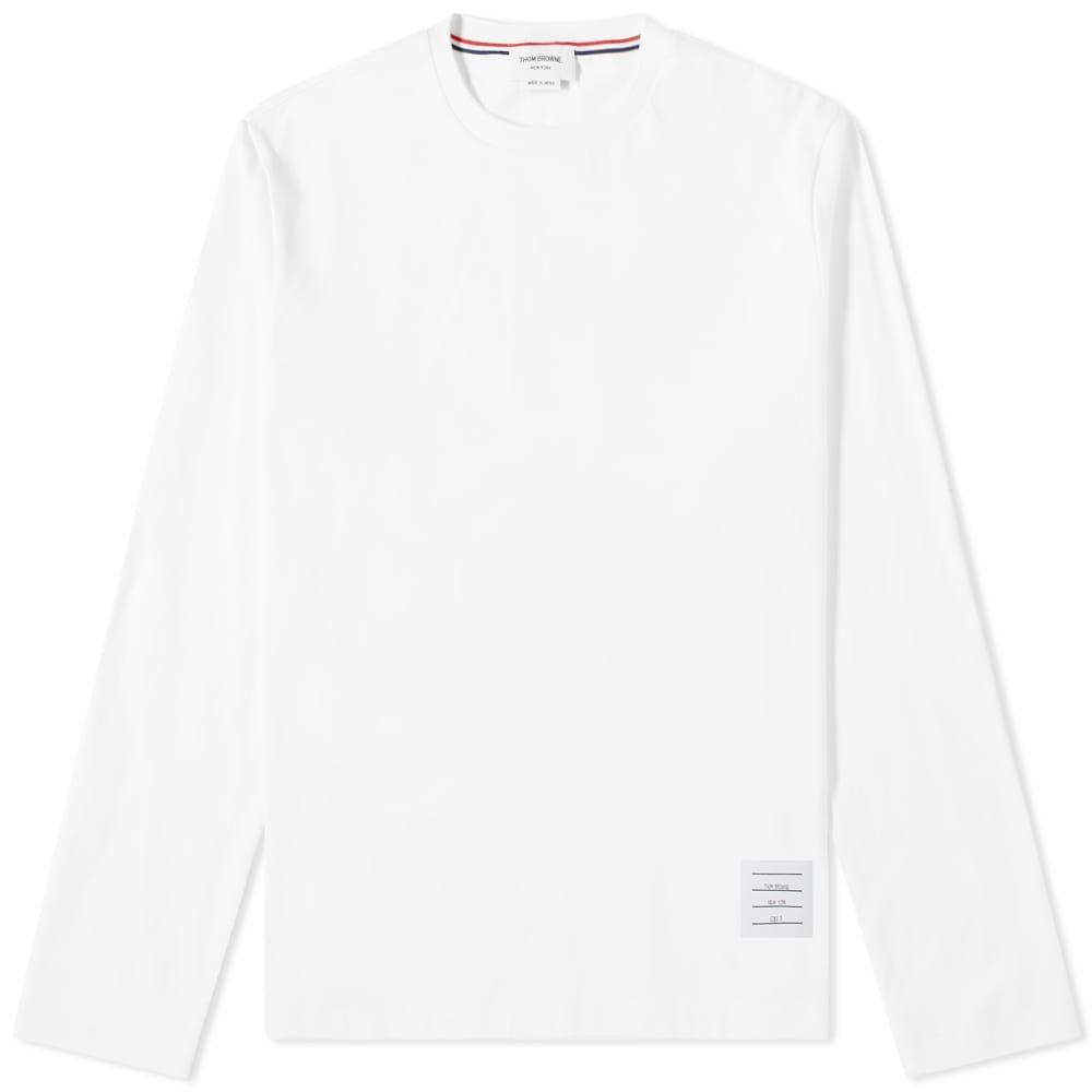 トム ブラウン Thom Browne メンズ 長袖Tシャツ トップス【classic long sleeved tee】White