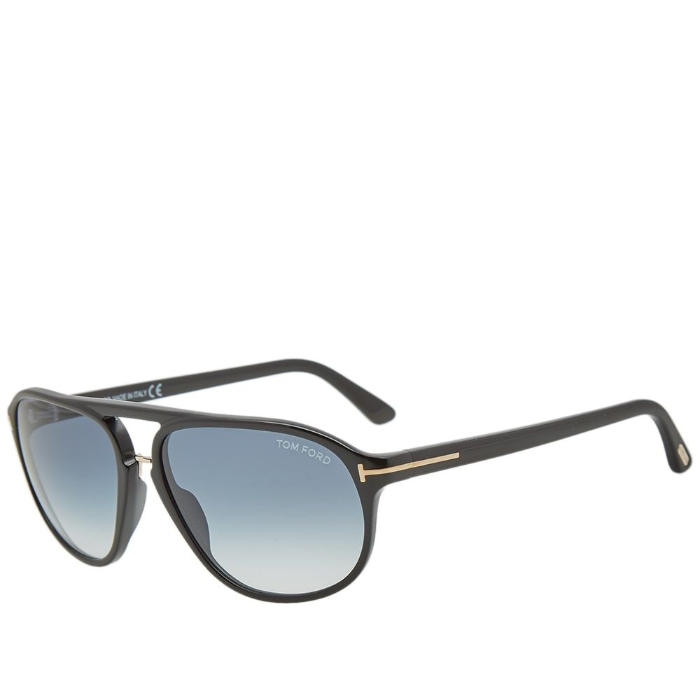 トム フォード Tom Ford Eyewear メンズ メガネ・サングラス 【tom ford ft0447 jacob sunglasses】Shiny Black/Gradient Green
