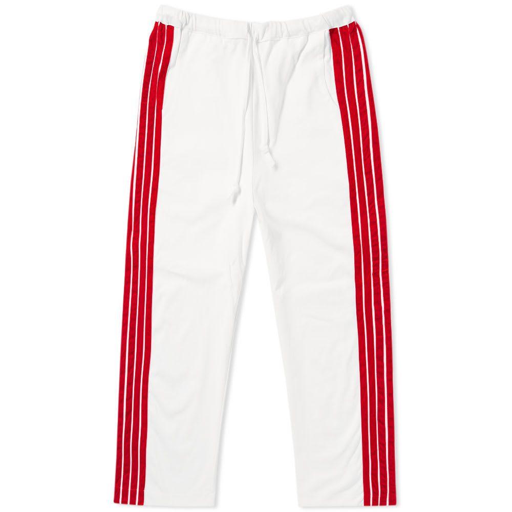 ディマ レウ DIMA LEU メンズ スウェット・ジャージ ワイドパンツ ボトムス・パンツ【cropped wide fit stripe track pant】Red