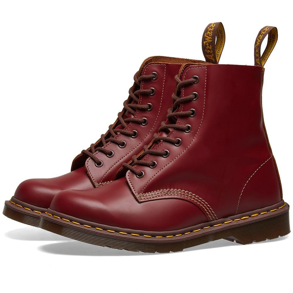 ドクターマーチン Dr Martens メンズ ブーツ シューズ・靴【dr. martens 1460 vintage boot - made in england】Oxblood Quilon
