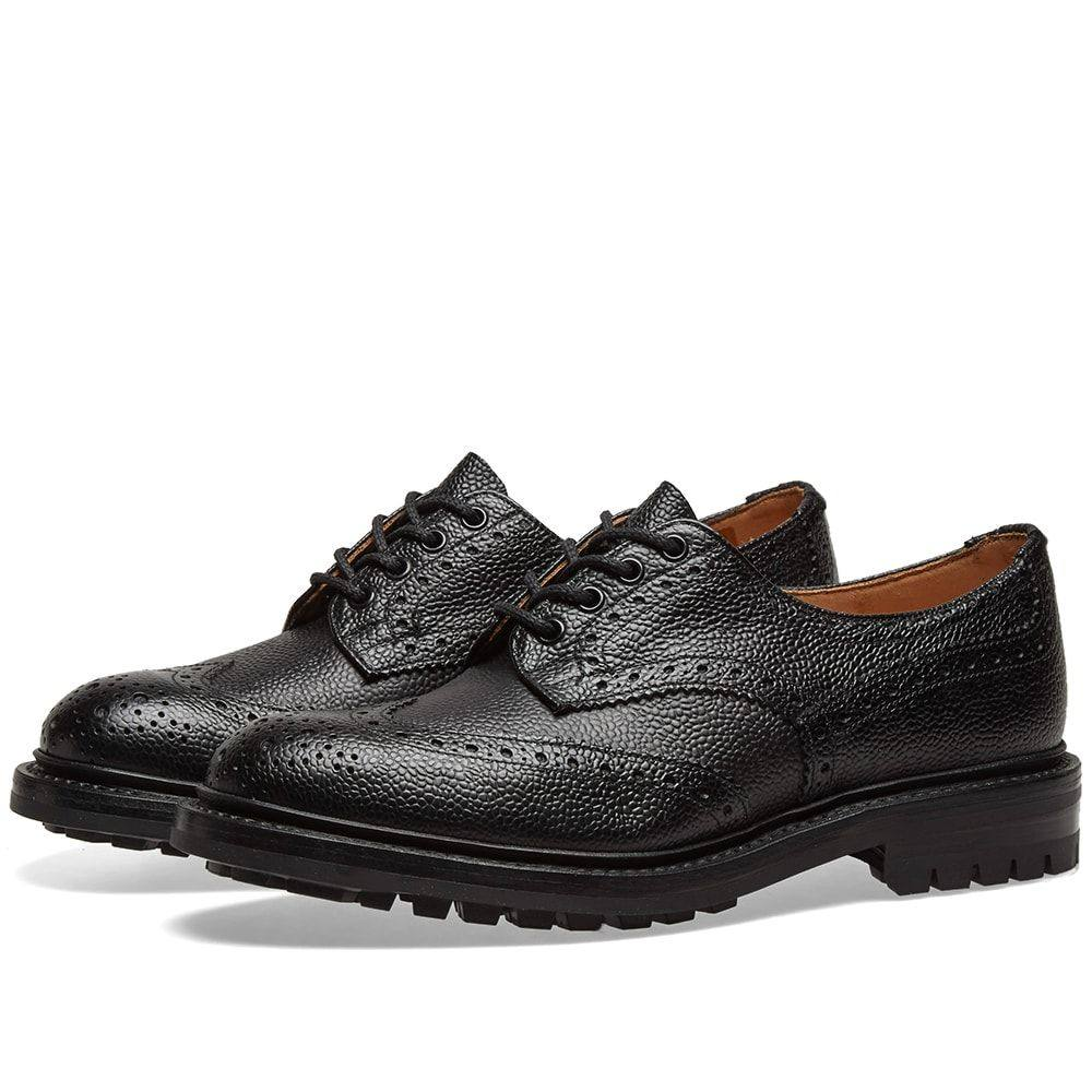 トリッカーズ Trickers メンズ シューズ・靴 革靴・ビジネスシューズ【Tricker's Commando Sole Ilkley Derby Brogue】Black Scotch Grain