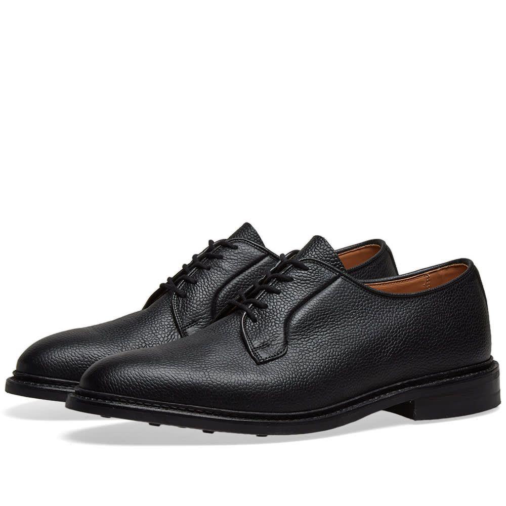 トリッカーズ Trickers メンズ シューズ・靴 革靴・ビジネスシューズ【Tricker's Fenwick Derby Shoe】Black Olivvia