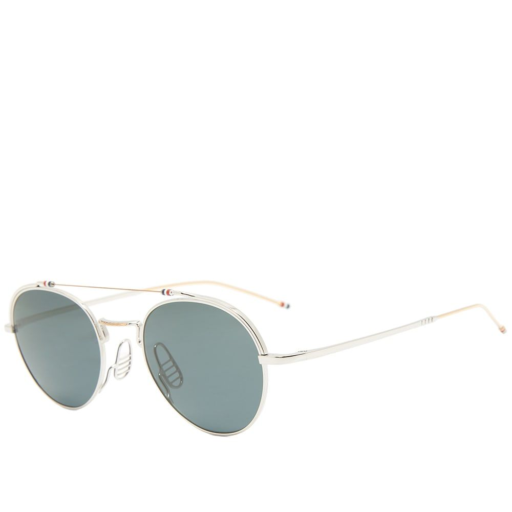 トム ブラウン Thom Browne メンズ メガネ・サングラス 【tb-912 sunglasses】Silver/White Gold