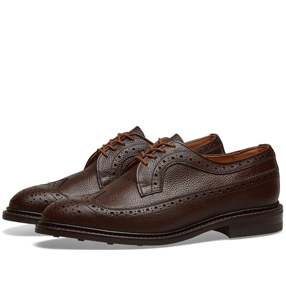 トリッカーズ Trickers メンズ シューズ・靴 革靴・ビジネスシューズ【Tricker's Fulton Long Wing Brogue】Dark Brown Olivvia