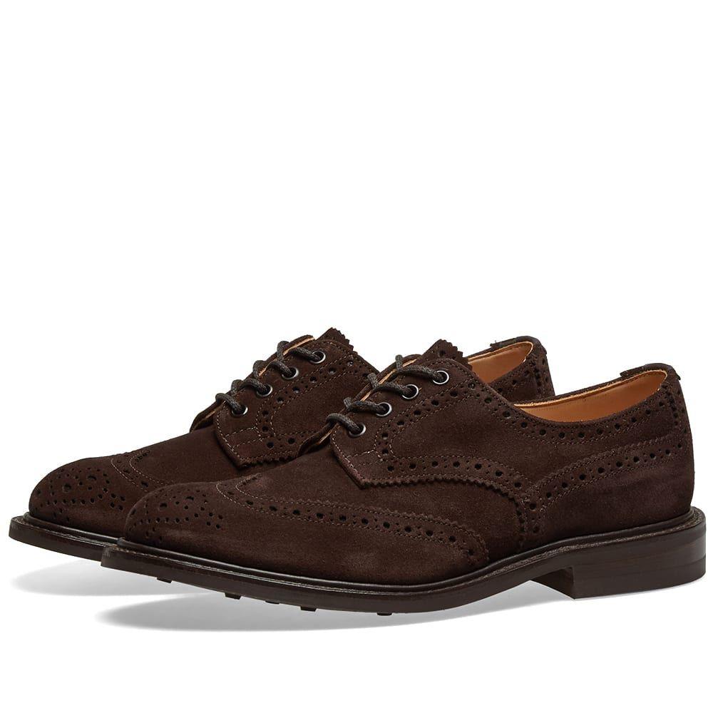 トリッカーズ Trickers メンズ シューズ・靴 革靴・ビジネスシューズ【Tricker's Bourton Derby Brogue】Ox Reversed Coffee