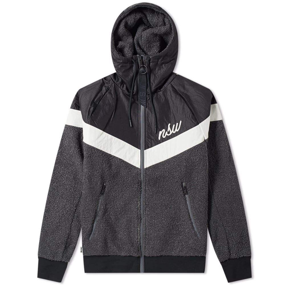 ナイキ Nike メンズ ジャケット アウター【sherpa wind runner】Black/Grey/White