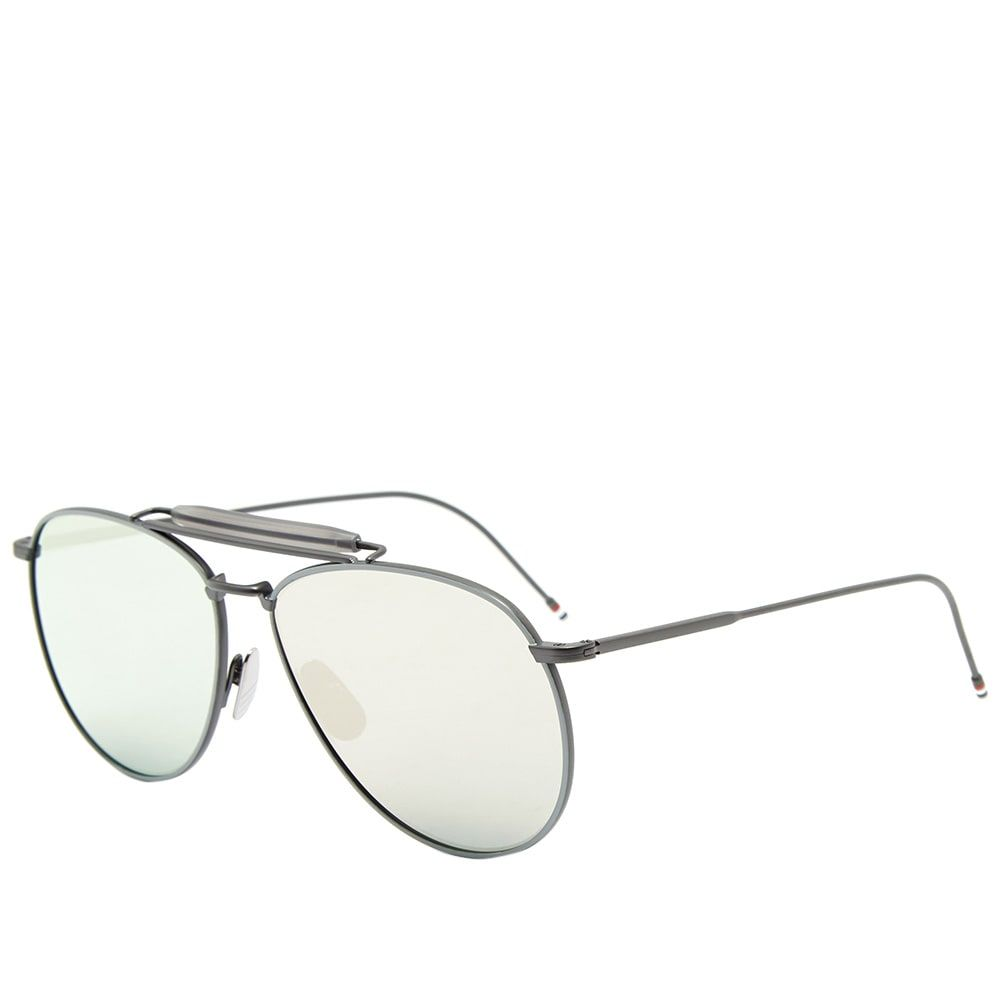 トム ブラウン Thom Browne メンズ メガネ・サングラス 【tb-015 sunglasses】Black Iron/Silver Mirror
