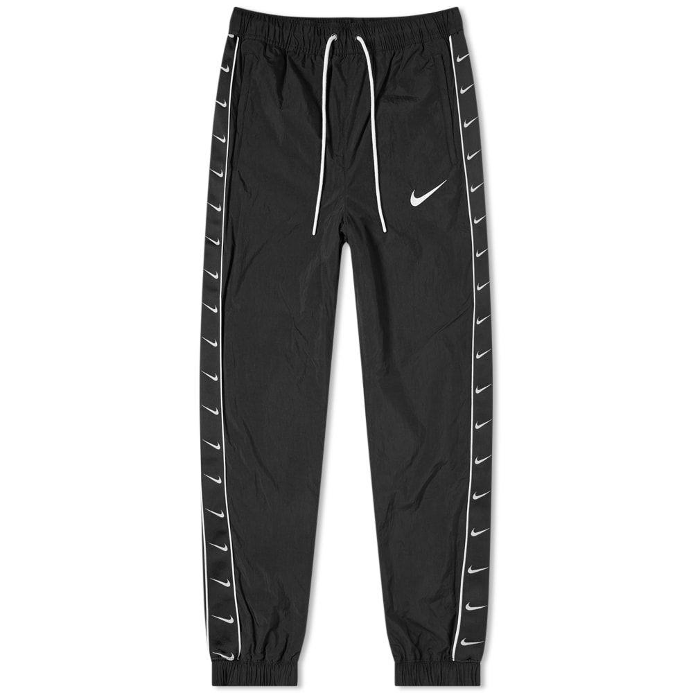 ナイキ Nike メンズ スウェット・ジャージ ボトムス・パンツ【taped swoosh woven pant】Black/White