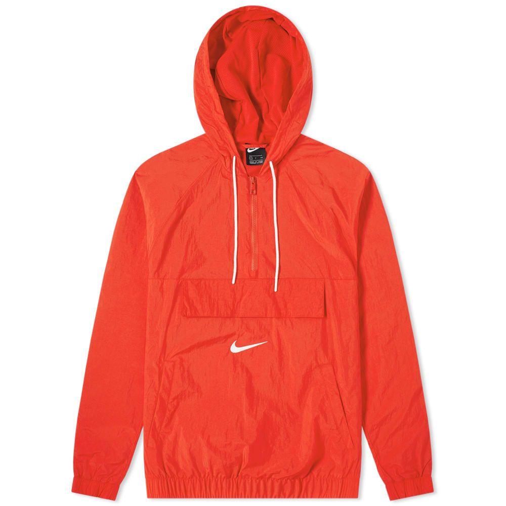 ナイキ Nike メンズ ジャケット アウター【taped swoosh popover jacket】University Red/White