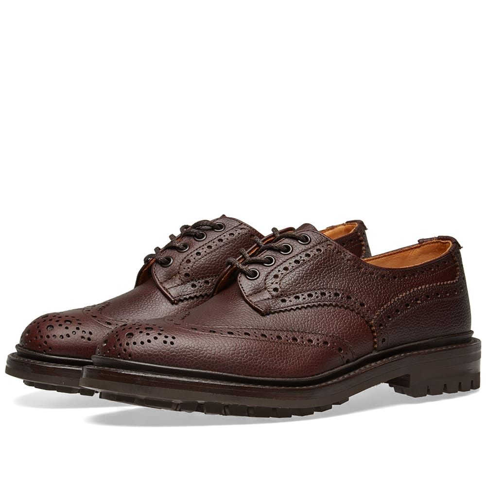 トリッカーズ Trickers メンズ シューズ・靴 革靴・ビジネスシューズ【Tricker's Commando Sole Ilkley Brogue】Brown Zug Grain