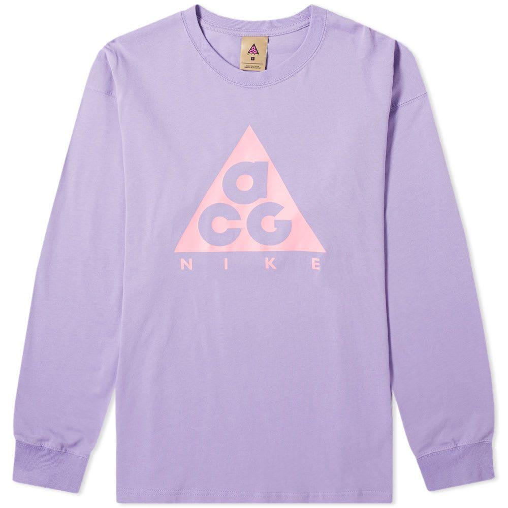 ナイキ Nike メンズ 長袖Tシャツ ロゴTシャツ トップス【acg long sleeve logo tee】Space Purple/Lotus Pink