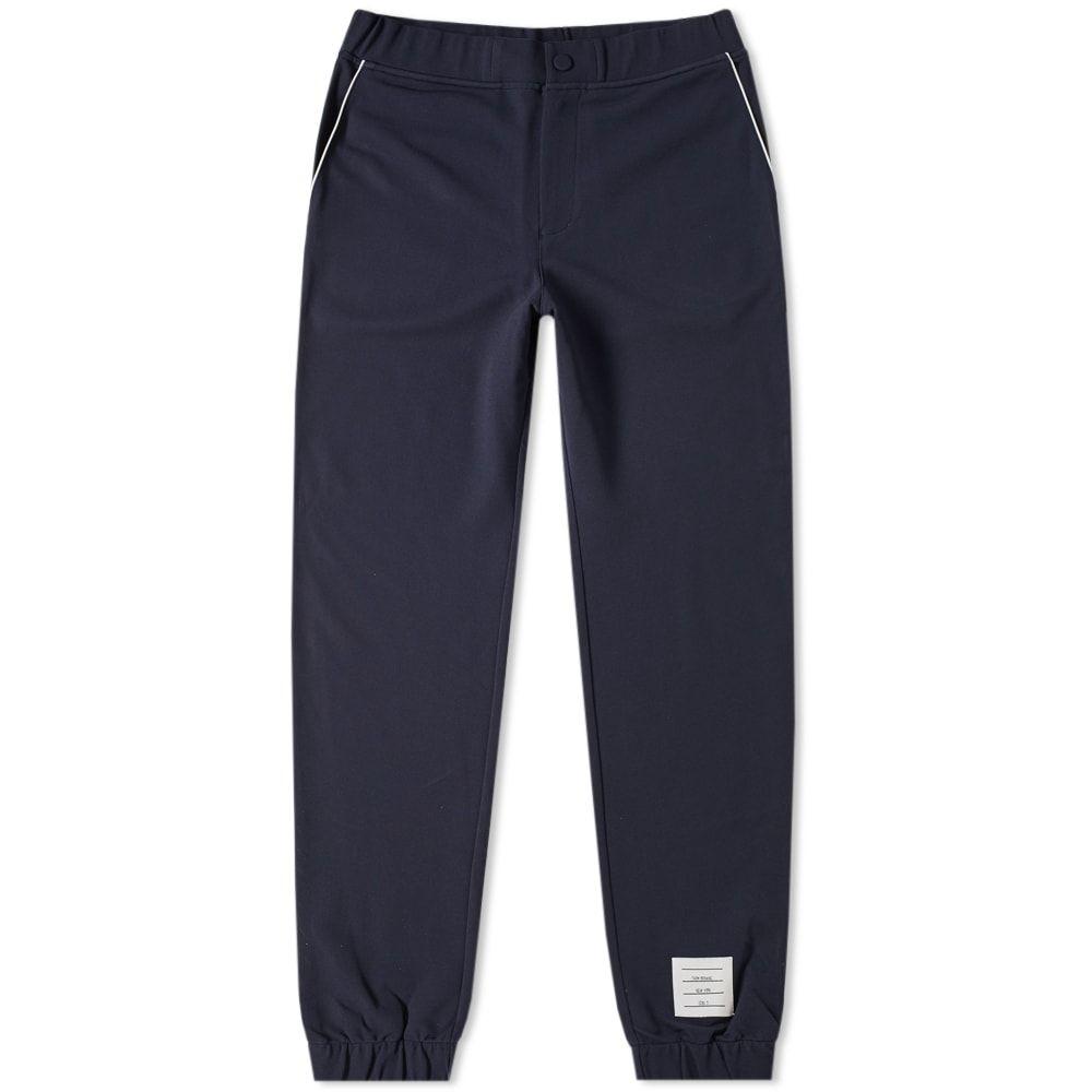 トム ブラウン Thom Browne メンズ スウェット・ジャージ ボトムス・パンツ【tech knit sweat pant】Navy