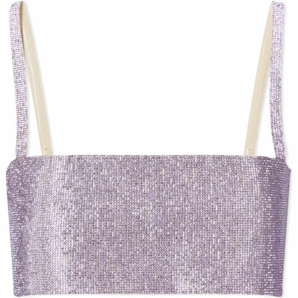 ヌエ ストゥディオ レディース トップス ベアトップ チューブトップ 1着でも送料無料 クロップド Lilac Charlotte Nue Top Crop セール特別価格 Studio サイズ交換無料 Purple
