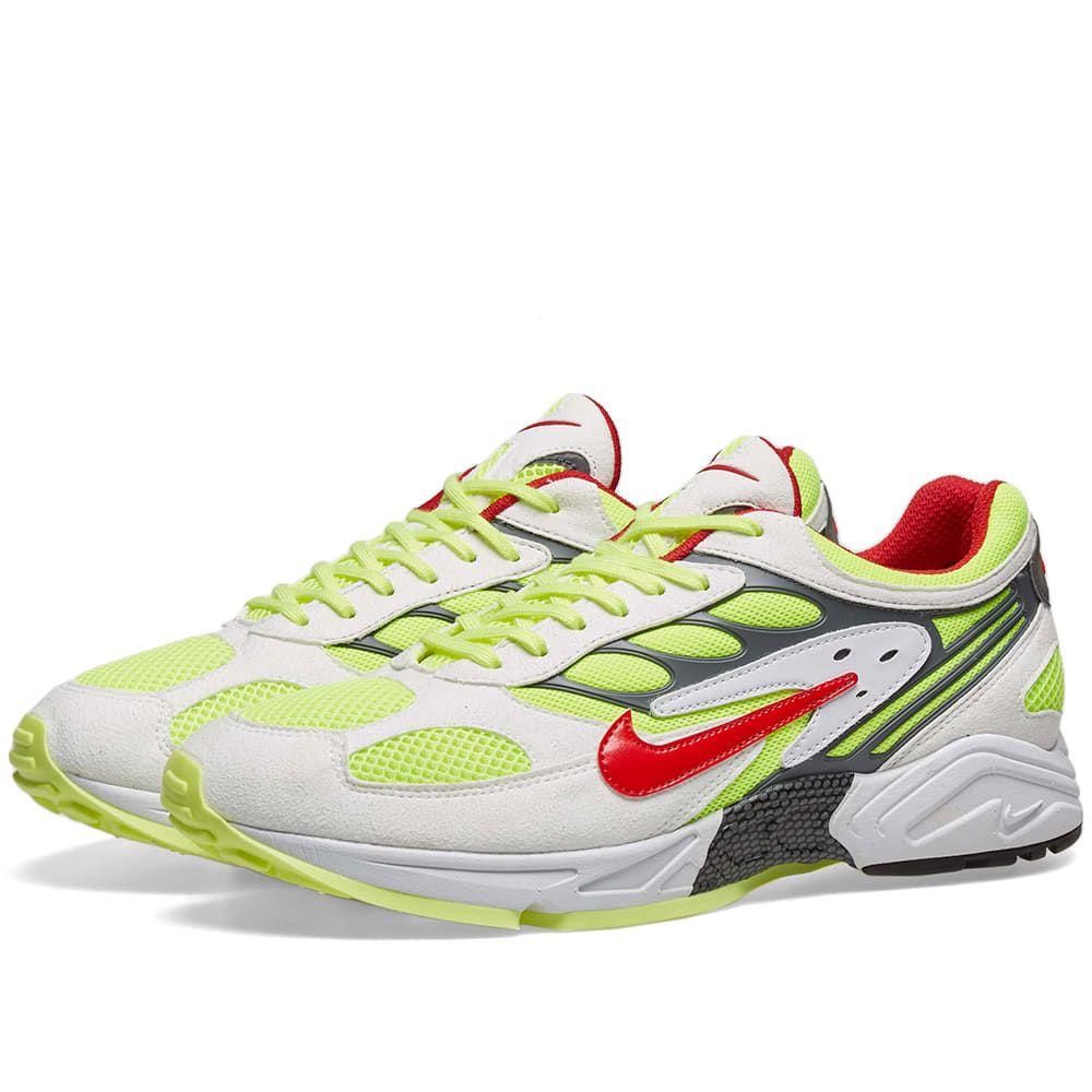 ナイキ Nike メンズ スニーカー シューズ・靴【air ghost racer】White/Atom Red/Yellow/Grey