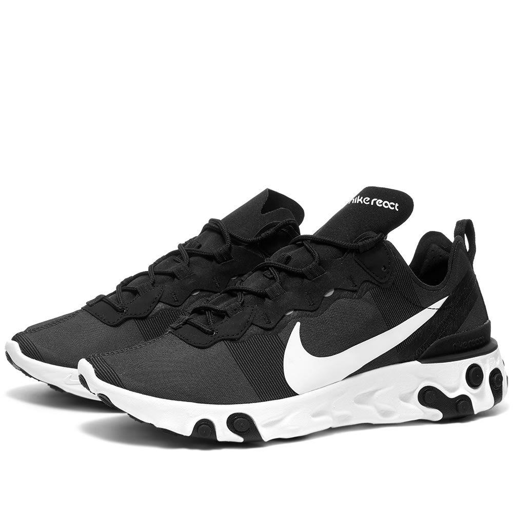 ナイキ Nike メンズ スニーカー シューズ・靴【react element 55】Black/White
