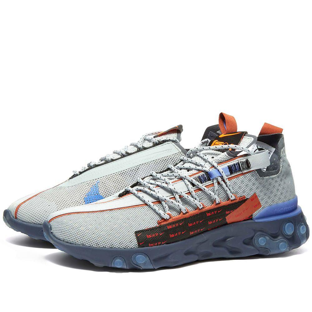 ナイキ Nike メンズ スニーカー シューズ・靴【react ispa】Wolf Grey/Sapphire/Peach