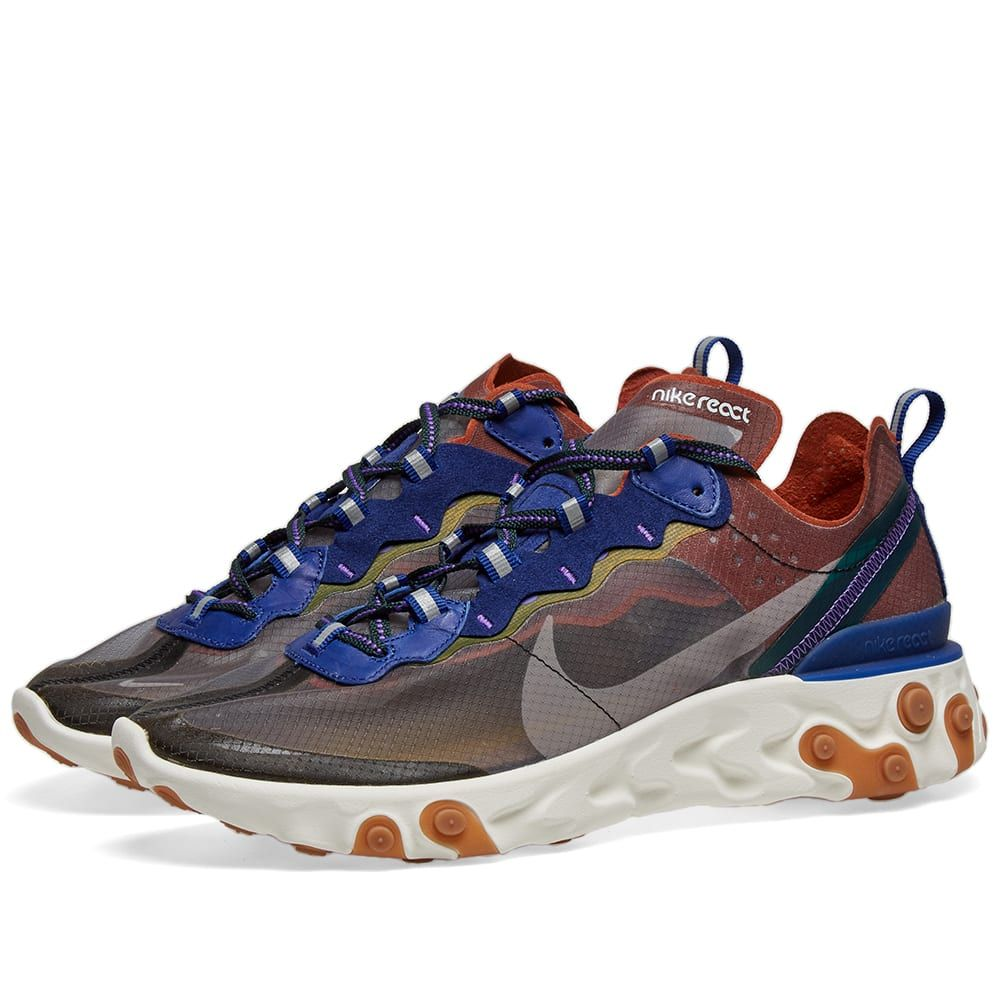 ナイキ Nike メンズ スニーカー シューズ・靴【react element 87】Peach/Grey/Blue/Green