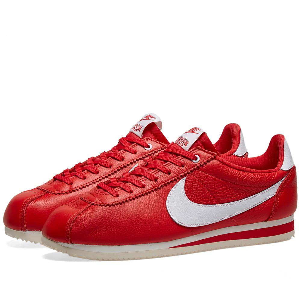 ナイキ Nike メンズ スニーカー シューズ・靴【x stranger things classic cortez】University Red/White