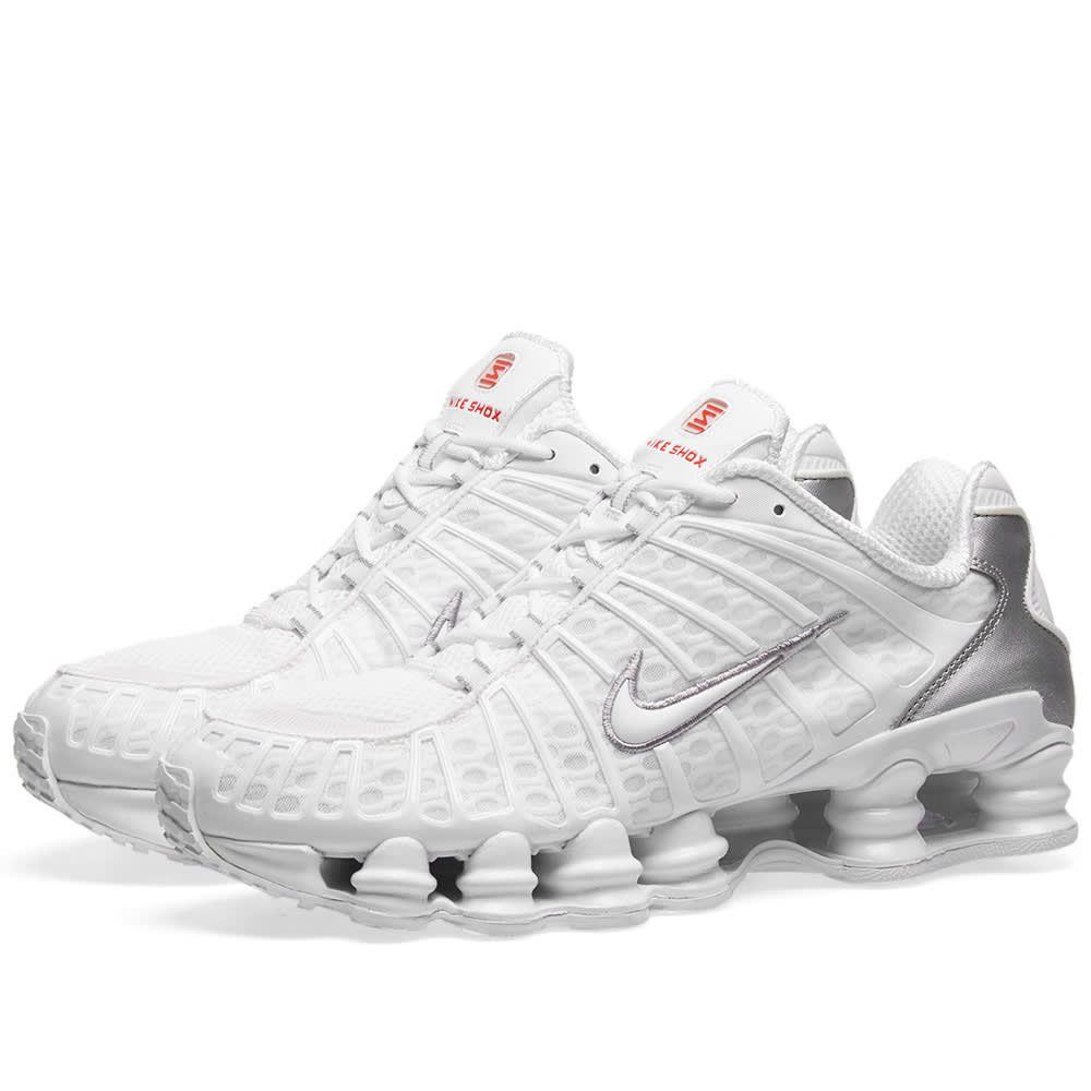 ナイキ Nike メンズ スニーカー シューズ・靴【shox tl】White/Silver/Max Orange