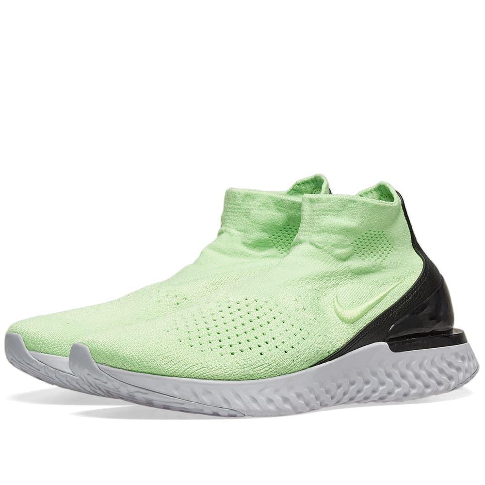 ナイキ Nike メンズ スニーカー シューズ・靴【rise react flyknit】Lime Blast/Black/Grey