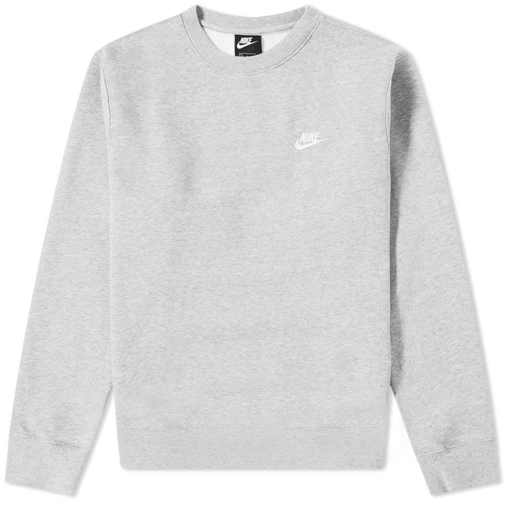 ナイキ Nike メンズ スウェット・トレーナー トップス【club crew sweat】Dark Grey Heather/White